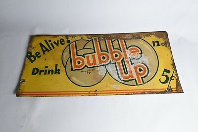 Drink Bubble Up Be Alive! Soda 1921 Advertising Sign