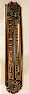 """Large 27"""" Vintage Hershey's Chocolate Wooden Wall Hanging Thermometer LQQK!"""