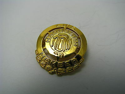 "1/20 10K GOLD FILLED BROOCH PIN BADGE""Hadassah Life Member""1960s Zionist Judaica"