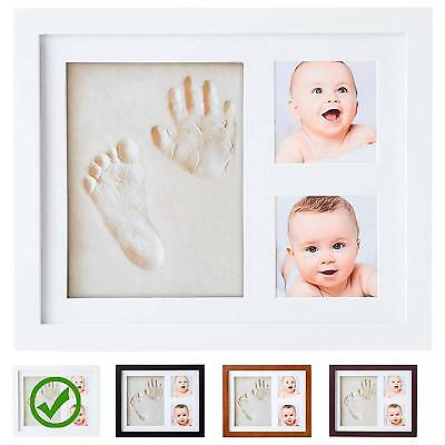 Frame Baby Hand and Footprint Kit and Adorable Baby Keepsake Gift for New MomDad