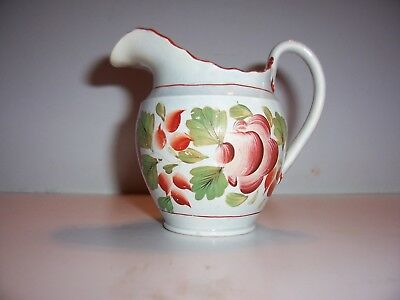 Antique Italian Majolica Pottery Pitcher Ewer Hand-Painted Faience Soft Paste