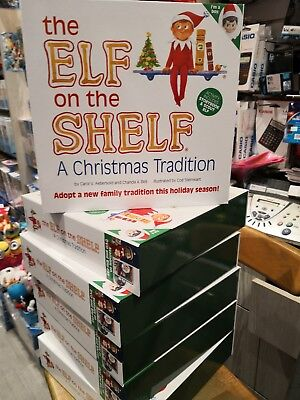 The Elf On The Shelf Hard Cover Book With Case - Light Skin Boy Genuine