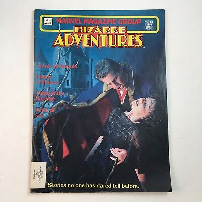 Marvel Comics Magazine Group Bizarre Adventures Dracula December 1982 Number 33