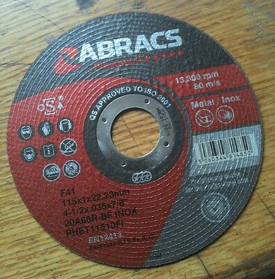 41/2 Thin Metal Stainless Steel Cutting Slitting Discs 115mm buy 3 GOF