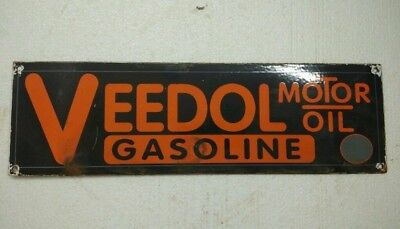 Porcelain Sign Veedol Motor Oil 15.5X4.5 Inches Approx