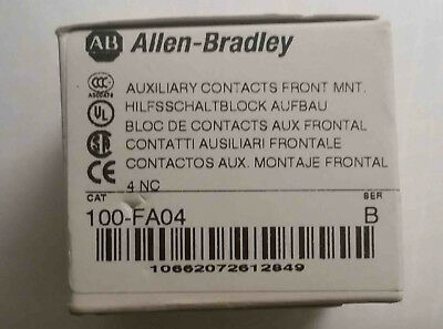 A-B Allen Bradley 100-FA04 Front Mount Auxiliary Contact  (4 NC) Ser B
