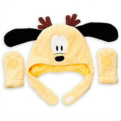 71513969902ccf Disney Store Mickey Mouse Pluto Holiday Hat Mittens Set Baby Costume  Accessory