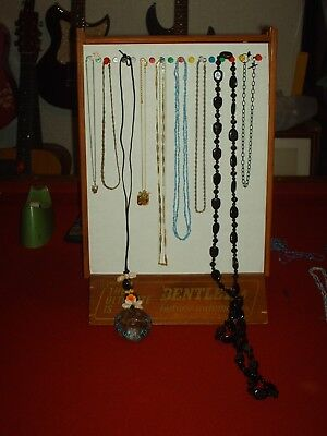 Estate sale jewelry lot of 9 vintage to now necklaces