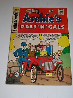 Archie's Pals 'N' Gals #28 Fine 1964 Giant Series solid book