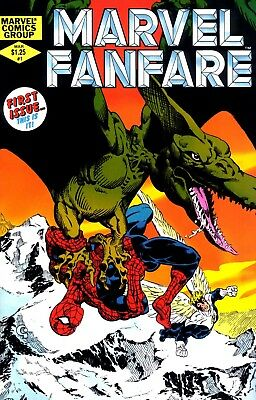 Us Comics Marvel Fanfare #1-60 Collection On Dvd