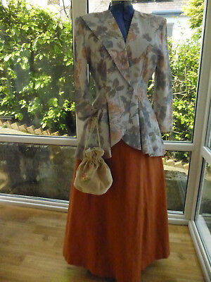 Victorian Costume With Dolly Bag Size 12/14