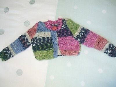 New HAND KNITTED CARDI FOR SASHA DOLLS BY MOLLY.16/17""