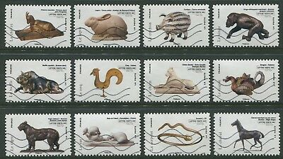 Animals In Art 2013 - Vfu Set Of Twelve Self-Adhesives (Bl354)