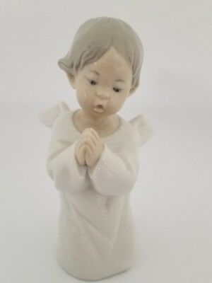 LLADRO ANGEL PRAYING #4538 Hand Made Spain Retired in 2005 Issued 1970 Vintage