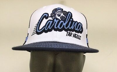 brand new 8bf66 49f7c North Carolina Tar Heels NCAA Top of the World Mesh Hat Cap  White blue