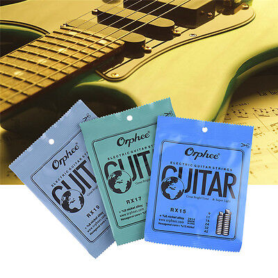 Orphee 6 PCS Electric Guitar Strings Carbon Steel RX15 RX17 RX19 Guitar Strings