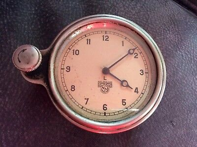 A Vintage Smiths 8 Day Car Clock Working Order.