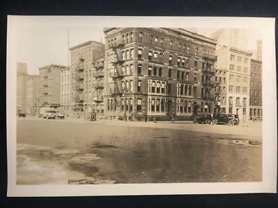 '30 NW Corner South & Wall St Manhattan New York City Old Vintage NYC Photo U173