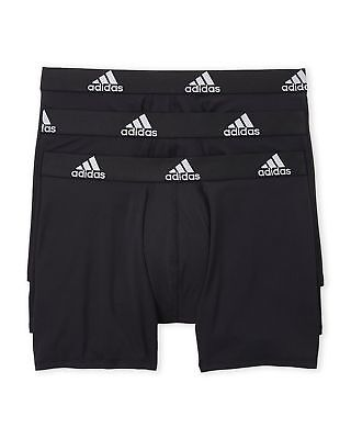 NWT! Mens ADIDAS Boxer Briefs 3-Pack Climalite Performance Underwear AthleticFit