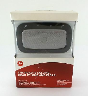 Motorola Sonic Rider Bluetooth Universal In-Car Speakerphone Black See Desc