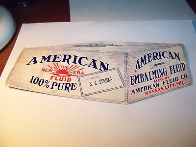 Ink Blotter American Embalming Fluid Co. Kansas City Mo.