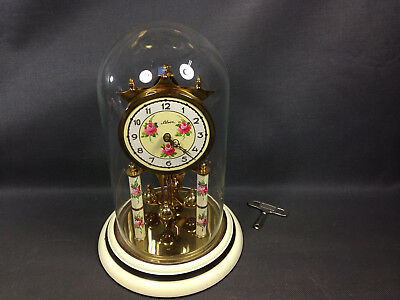 Antique pendulum clock SILVOZ movement KOMA anniversary clock bell glass