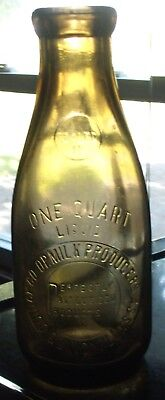 Nice Color Quart Quincy,ill. Milk Bottle