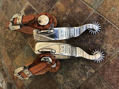 Billy Klapper Spurs with custom Straps with Buckles By Glenn Pointer