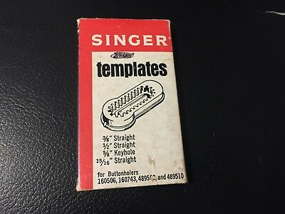 Singer Sewing Machine Buttonhole Templates Fits Buttonholers 160506,160743,48950