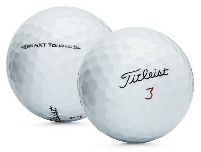 3 Dozen Titleist NXT Tour Recycled Used Golf Balls Mint 5A + Free Poker Chip