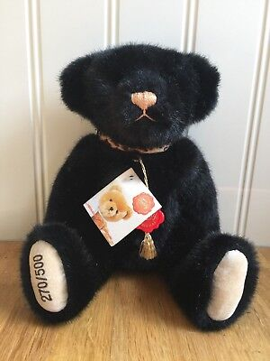 Beautiful Vintage Hermann Teddy Original Jointed Bear with Tags 270/500 Rare