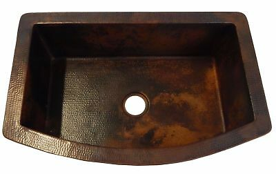 moroccan Apron Front Farmhouse Kitchen Double Bowl moroccan Copper Sink Stained