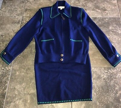St. John Collection By Marie Vintage Sweater and Skirt Set Women's Size Small 2