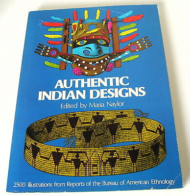 AUTHENTIC INDIAN DESIGNS Book~2500 Illustrations ~Soft Cover Copy 1975