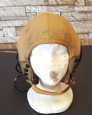 Vintage Original WW2 US Army-Navy Model AN-H-15 Flying Helmet with Electronics