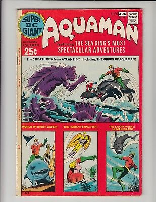 Super Dc Giant S-26 Vg/fn, Re-Print Of Aquaman Origin!!