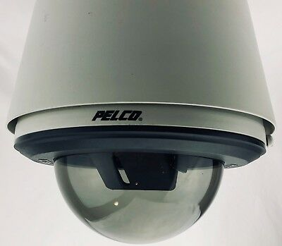 Pelco DF5-PG-E0 Fixed Mount Gray Pendant Outdoor Housing with Smoked Dome