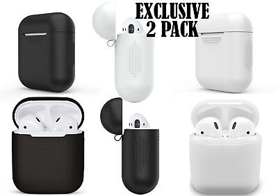 2 Pack Apple AirPods Charging Protective Silicone Skin Case Cover Shockproof