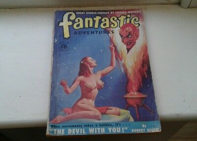 golden age FANTASTIC ADVENTURES PULP MAGAZINE. 1947,VINTAGE ERA.