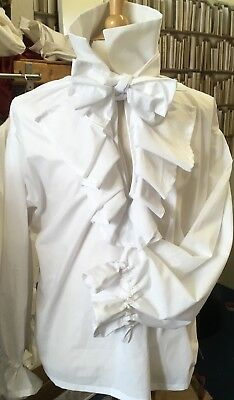 Georgian/ Regency Jabot Shirt.