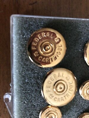 vintage brass Blazer buttons Federal Cartridge