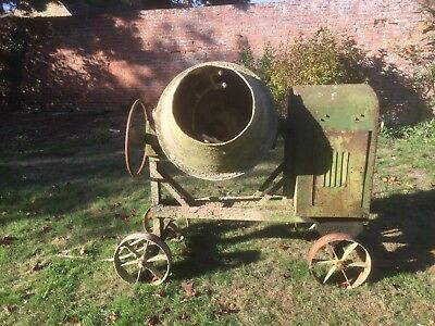 Very large Benford CTW 200ltr Petter engined diesel cement mixer. BYER collects