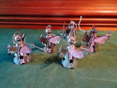 5 Regal Quality Silver Angels, 4 Ornaments, 1 Candle Chaser, Hong Kong  & China