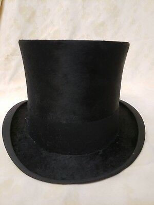 Vintage Henry Heath Top Hat Silk Plush