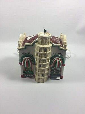 Dept 56 Snow Village Series Building Pisa Pizza with original box