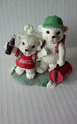 Collectible Coca Cola Polar Bear Cubs figurine limited edition