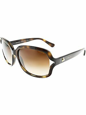 Coach Women's Gradient HC8169-512013-57 Brown Square Sunglasses