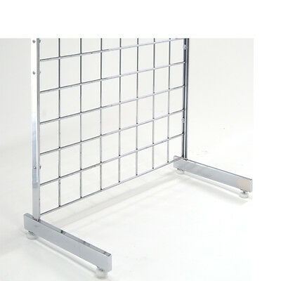 Gridwall L Shape L Style Legs - Grid Panel Mounting Legs - Chrome - 5 Pairs