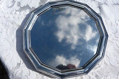 George VI Silver Salver Sheffield Atkin Brothers 1951 1950's Dodecagon 4 Feet