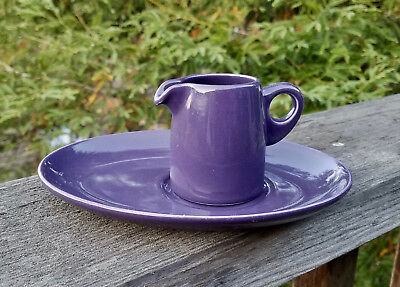 Virgin Atlantic 1st Class Creamer & Tray By Dudson of England; Deep Purple!